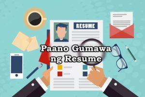 paano gumawa ng resume